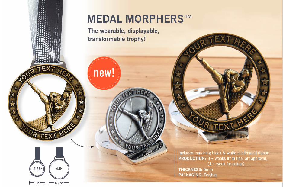 Photo of small and large Medal Morpher