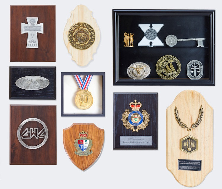 Catalog page of Plaques and Emblems - With Pricing