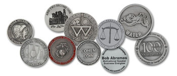 Custom Natural Pewter Coins