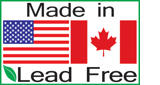 Made in USA and Canada - Lead Free