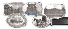 Custom Pewter Photo Etched Belt Buckles