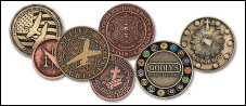 Custom Antique Hand Finished Coins