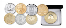 Custom Die Struck - Sandblasted Coins