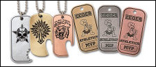 Custom Antique Finish Dog Tags - Hand Finished