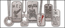 Custom Natural Pewter Dog Tags - Hand Finished