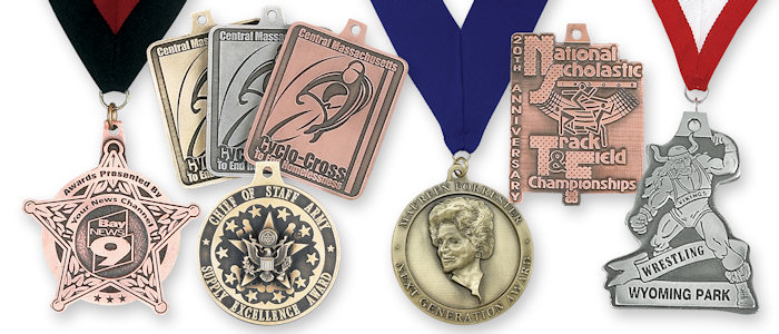 Custom Antique Spin-Cast Medals Hand-Finished