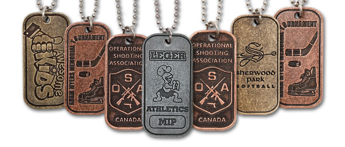 Custom Budget Dog Tags - Machine Finished