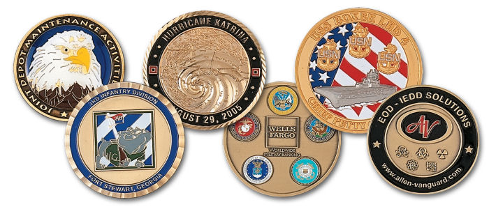 Custom Die Struck Coins - up to 4 colors included