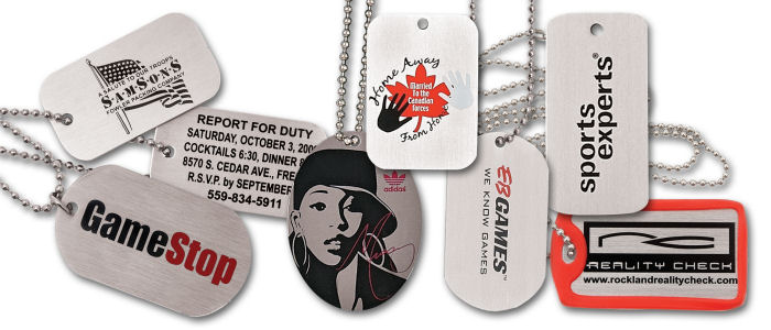 Custom Aluminum Printed Dog Tags