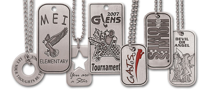 Custom Pewter Dog Tags - Hand Finished