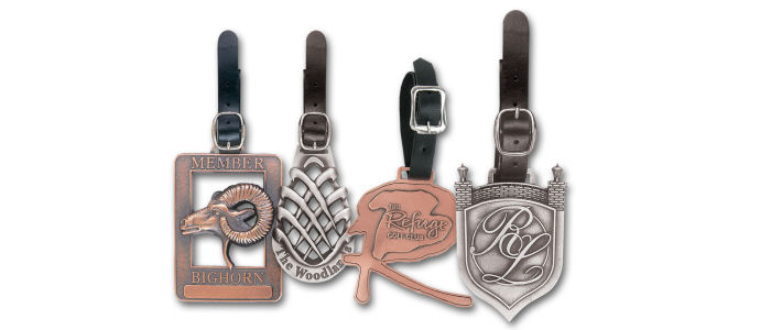 Custom Golf Bag Tags - Antique Finish