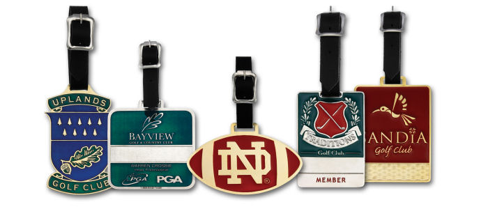 Custom Bright Finish Golf Bag Tags