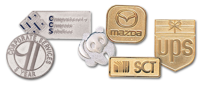 Custom Die Struck Lapel Pins - Sandblasted & Polished Finish