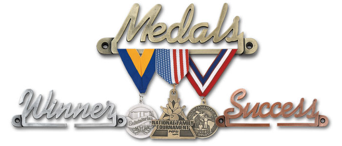 Custom Medal Hangers - Inspirational Award