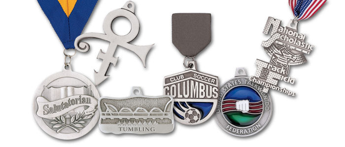 Custom Pewter Finish Medals and Medallions