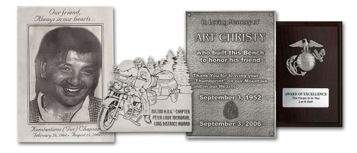 Custom Plaques and Awards - Natural Pewter - Memorial & Inspirational