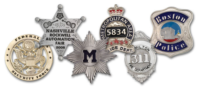 Custom Police Badges - Zinc Casted