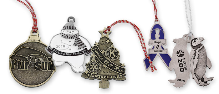 Custom Zinc Christmas Ornaments your choice of Antique Gold, Silver and Copper finishes