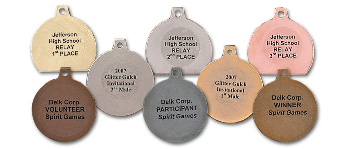 Laser Labels - easy way to personalize your medals and medallions