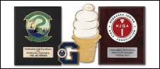Custom Zinc Plaques and Awards - Antique and Bright of Gold, Silver and Copper, or 24K Gold Plated