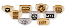 Custom logo rings