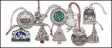 Custom Natural Pewter Christmas Ornaments