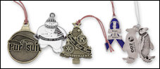 Custom Zinc Christmas Ornaments - Antique Gold, Silver, Copper