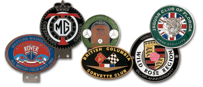Gold Plated Automobile Badges