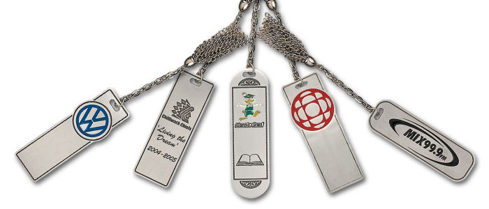 Custom Pewter Book Marks with Tassel